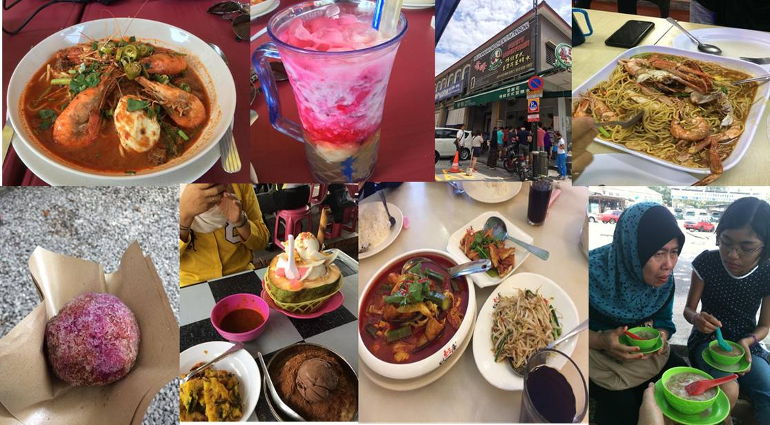 Mee Udang, Dim Sum, Cendol Durian, and other Malaysian foods.