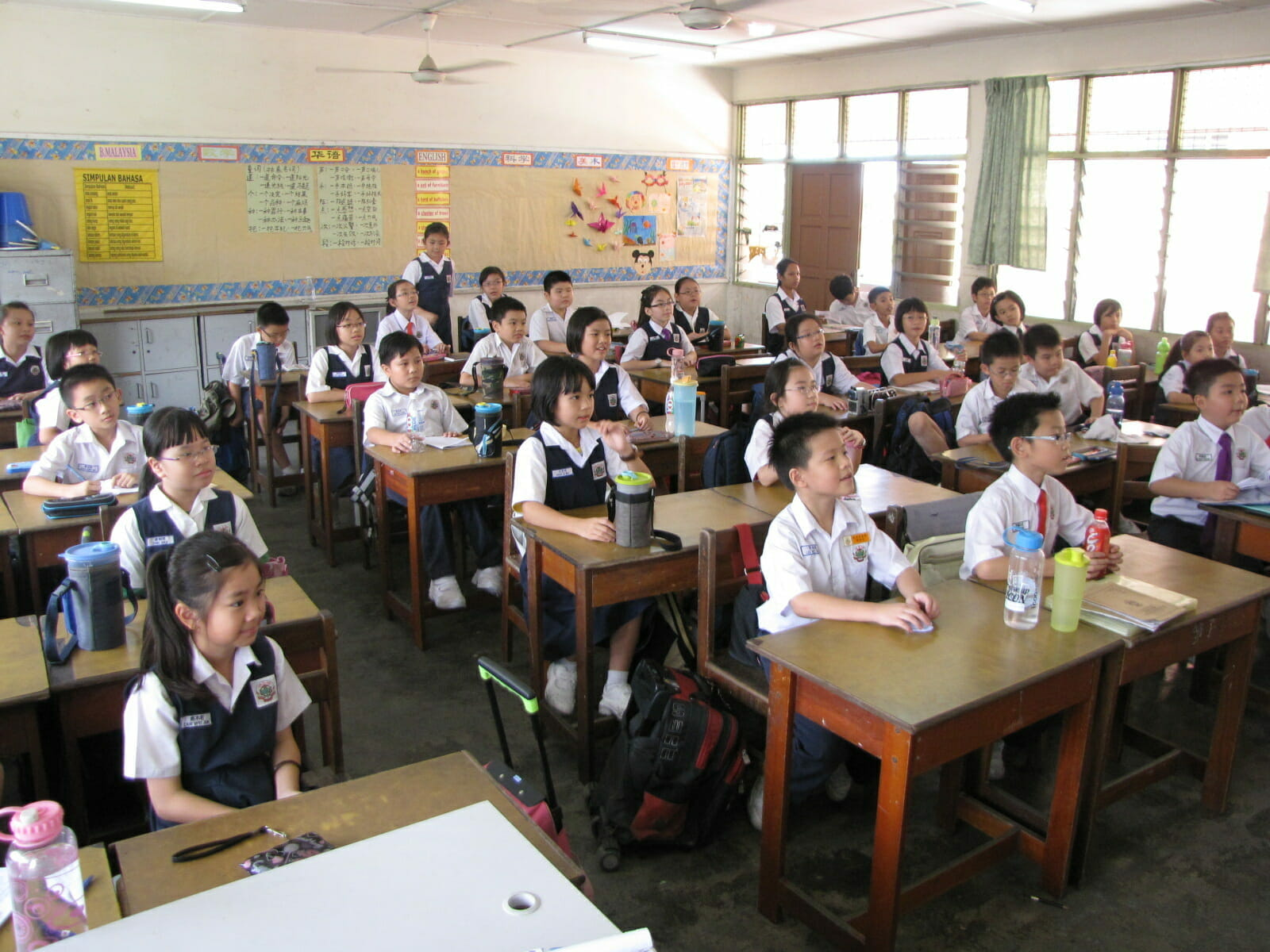 classroom full of attentive students in malaysia