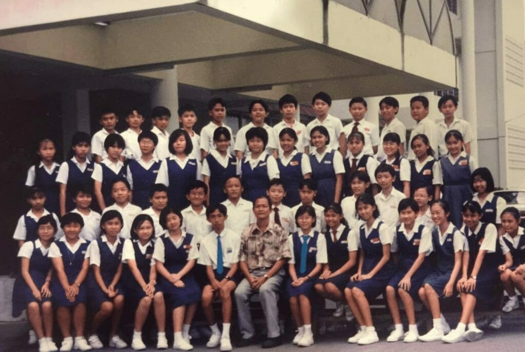 Malaysian chinese students group photo 1990