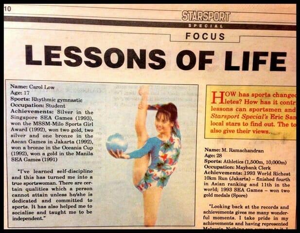 [Newspaper article on the National Sportsgirl Award]