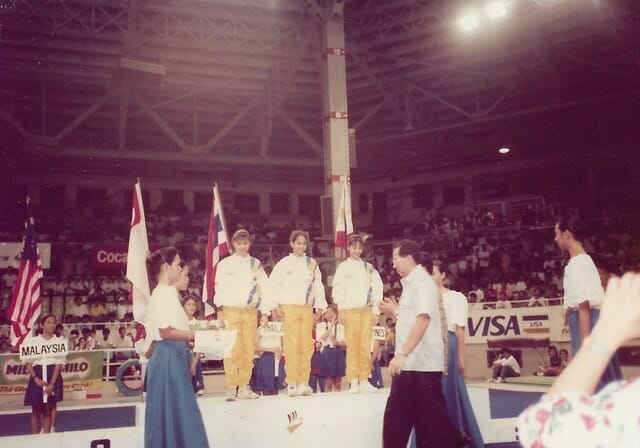 [Our team winning the gold at 1991 SEA Games in Manila]