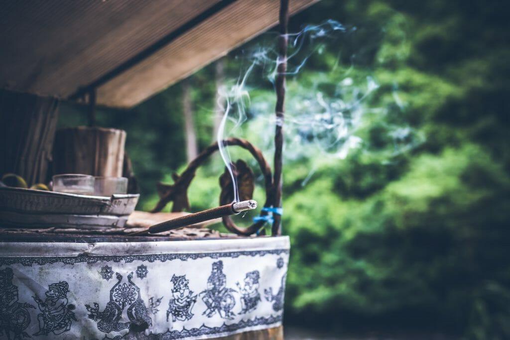 Taoist joss sticks on an altar