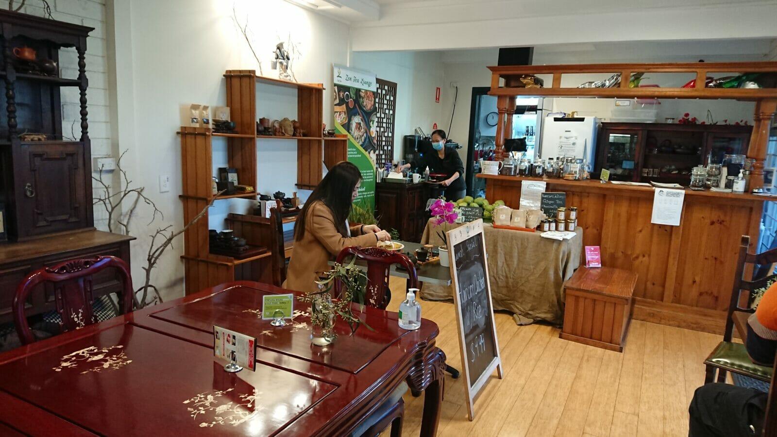 Volunteers and workers at Zen Tea Lounge
