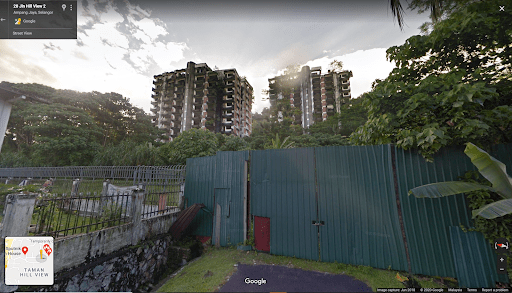 Google Maps streetview of the Highland Towers
