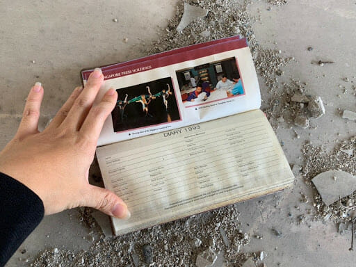 This diary is from Singapore Press Holdings — perhaps the owner was a Singaporean expat.