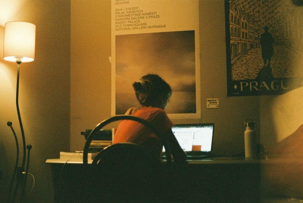 Sitting at my desk, I dream of Prague.