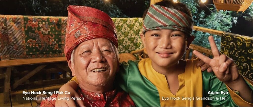 Eyo Hock Seng, Pak Cu and his grandson and heir, Adam Eyo, a national heritage living person